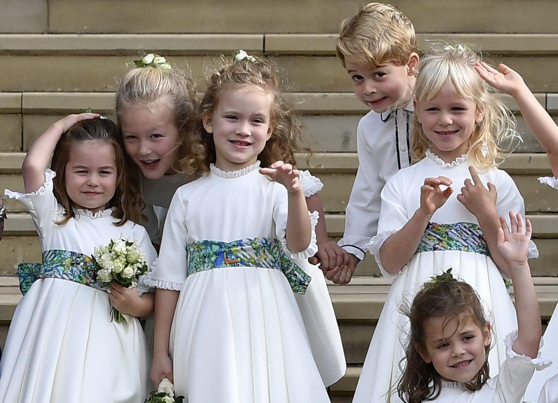 prince george princess charlotte eugenie wedding photo