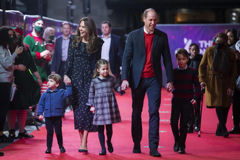 Prince William, Kate Middleton walk red carpet with their three children