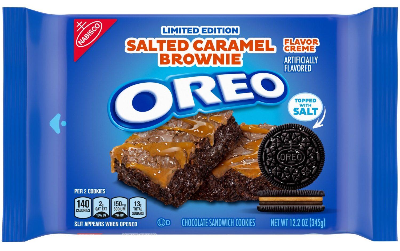 Salted caramel brownie Oreos
